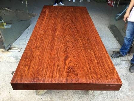 盛世红 非洲巴花188-86-9.7全方办公桌 会议桌实木大板桌