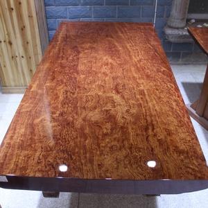 尺寸:179-92-9.5巴花大板现货实木原木办公会议餐桌茶桌