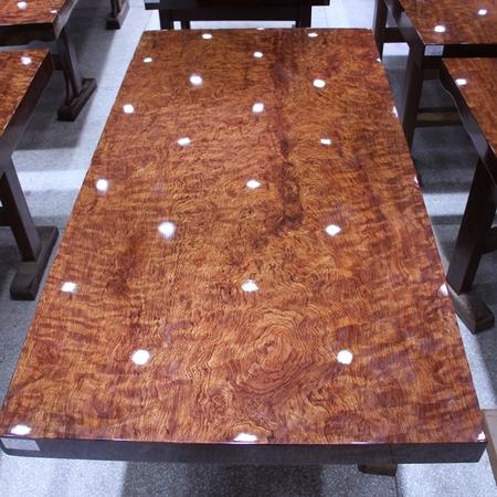 尺寸:195-83-9巴花大板现货实木原木办公会议餐桌茶桌巴西花梨木